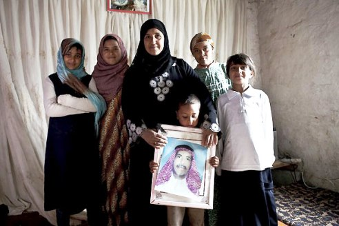Iraq widow and children