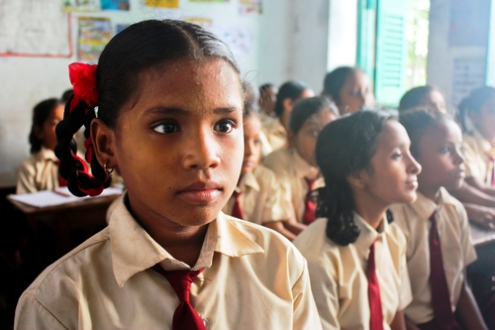 Focus first on education, especially for girls, say leaders at Davos