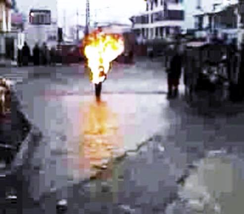 Former Tibetan monk sets self on fire for justice, cultural & religious freedom