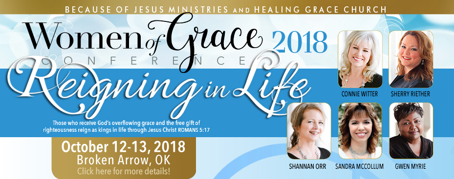 Broken Arrow, Oklahoma Women of Grace Conference Banner