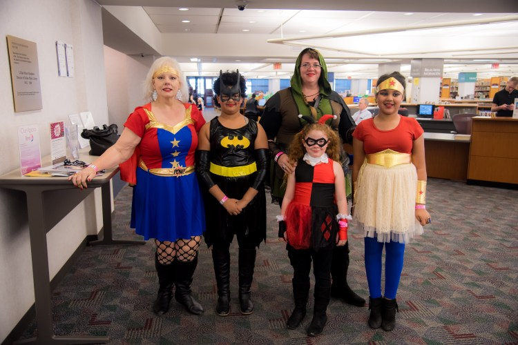 Cosplayers at Women of Wonder Con 2018