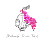 Animal skull with butterfly and pink flowers