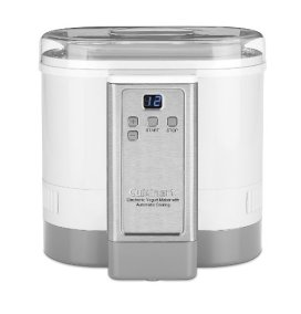 Cuisinart CYM-100 Electronic Yogurt Maker with Automatic Cooling,3.12lb Jar capacity,(1.5L)