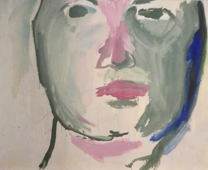 """Self portrait #5,"" Oil on Linen, 60""x40"""