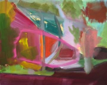 """Baldwin Hill Farm House,"" Oil on Linen, 24""x18"""