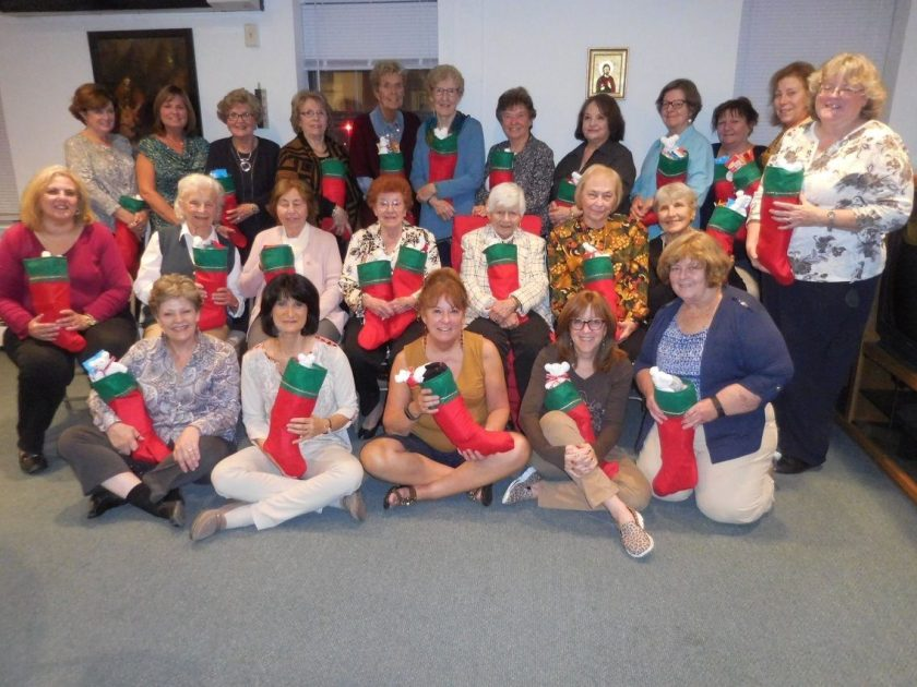 Creating stockings for soldiers