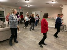 WCC Women's Health Month, Dancing together for exercise and camaraderie.