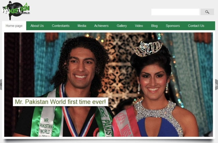 Sonia Ahmed, launches Mr. Pakistan World Website