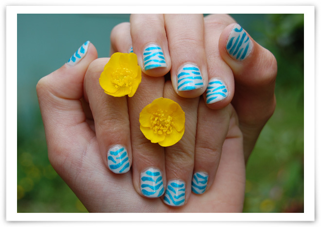 Get wild and crazy with zebra nail designs 05