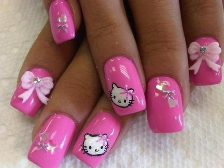 Create Hello Kitty Nail Designs at Home 05
