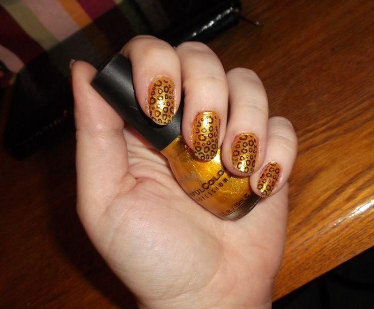 Stamped French Tip Nail Designs