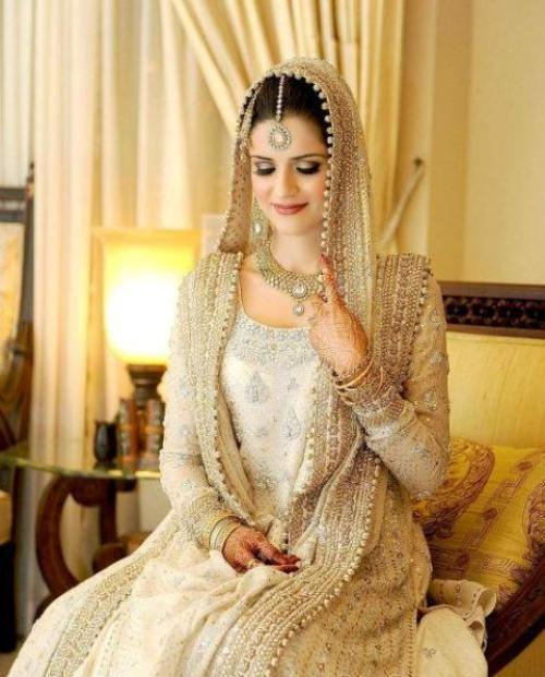 wedding gowns,  Traditional Pakistani Bridal Dress