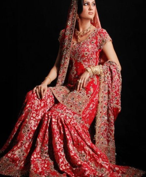 Traditional Pakistani Bridal Dress, Pakistani Bridal Wear