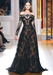 The Beautiful Long Black Dresses for Weddings at THE DESSY GROUP