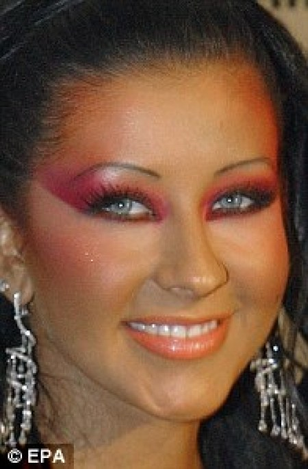 Christina Aguilera Overloaded Makeup, male celebrities makeup