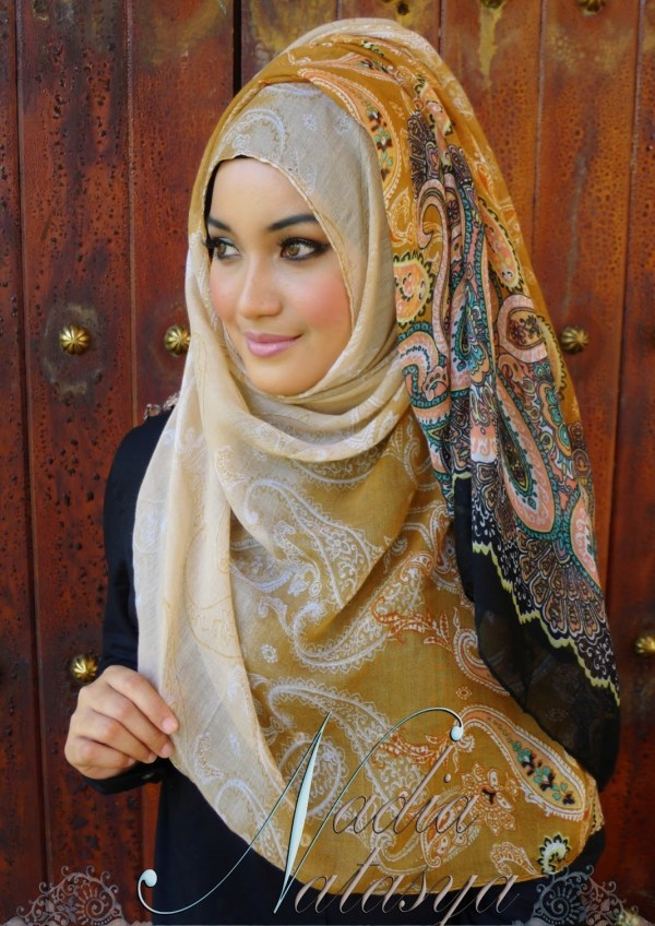 Muslim Scarf Styles Pictures for Malay Girls