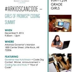 #ARKidsCanCode: Girls of Promise® Coding Summit