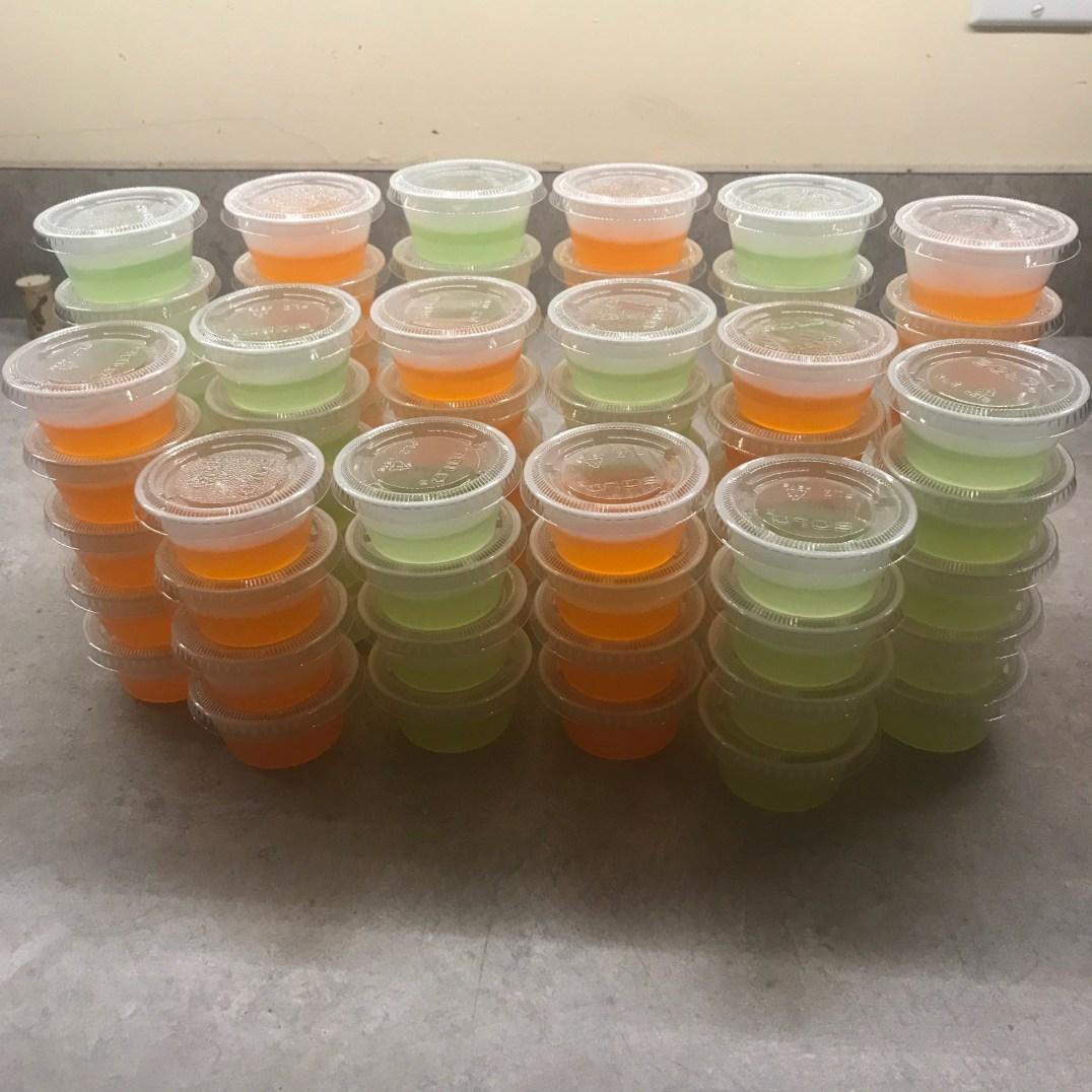 Margarita & Screwdriver Jello Shots (non alcoholic)
