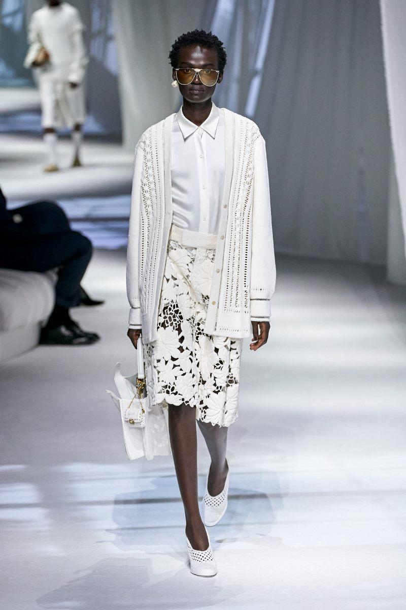 Модный тренд в одежде 2021. Фото из коллекции Fendi