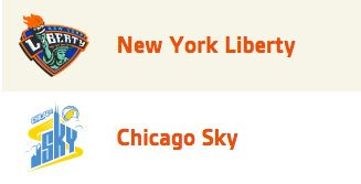 NY Liberty Chicago Sky WNBA