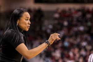 Coach Dawn Staley lead the South Carolina Gamecocks to their first Final Four last season. Photo courtesy of South Carolina Athletics.