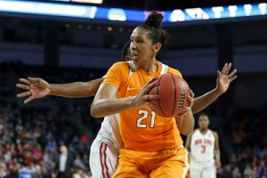 Mercedes Russell had a career-high 25 points to go along with 15 rebounds in Tennessee's Sweet 16 win over Ohio State. Photo By Donald Page/Tennessee Athletics
