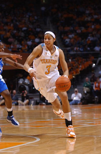 Candace Parker in her senior year at Tennessee, in 2008. Photo courtesy of UT Athletics.