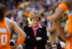 Pat Summitt's stare was legendary. Photo from freepress.com.