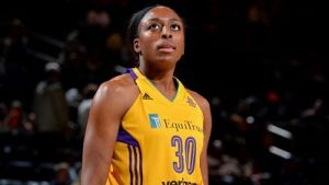 Nneka Ogwumike leads the WNBA in field goal percentage, shooting 70.4 percent. Photo courtesy of Los Angeles Sparks.