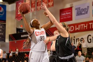 Sophomore Channon Fluker is averaging a double-double for the Matadors this season. Photo courtesy of CSUN Athletics.