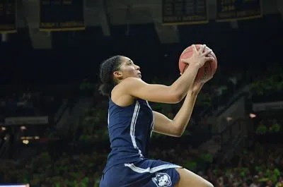 Gabby Williams has become a team leader for Connecticut this season. Photo courtesy of Connecticut Athletics.