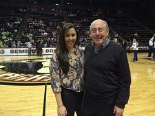 Carly Thibault and father Mike Thibault. Photo courtesy of Carly Thibault.