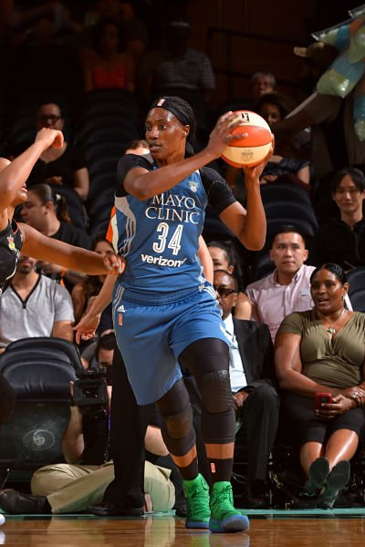 Sylvia Fowles had 27 points against Dallas Saturday. Photo by Jesse D. Garrabrant/NBAE via Getty Images.