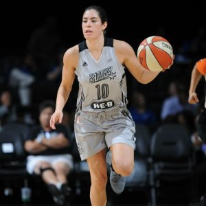 No. 1 draft pick Kelsey Plum made her long-awaited season debut against the Dallas Wings. Photo via NBAE/Getty Images.