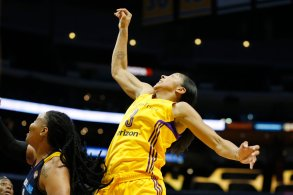 Candace Parker had 14 points and nine rebounds in the game. Photo by Maria Noble/WomensHoopsWorld.