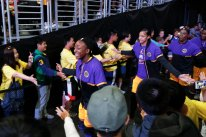 The Sparks come through the tunnel for shoot around. Photo by Maria Noble/WomensHoopsWorld.