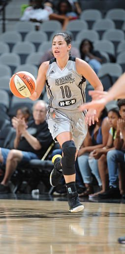 Kelsey Plum scored 11 points against the Sun Wednesday. Photo by Mark Sobhani/NBA Entertainment.