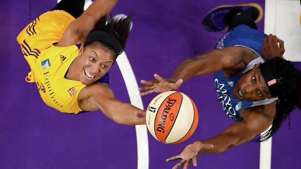 Candace Parker and Sylvia Fowles battle for a rebound. Both finished with a double-double. Jayne Kamin-Oncea-USA TODAY Sports