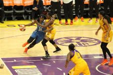 Nneka Ogwumike defends Sylvia Fowles on the drive. Photo by Benita West/TGSportsTV1.
