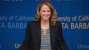 In two seasons, coach Bonnie Henrickson has changed the culture of Gaucho women's basketball. Photo by Tony Mastres.