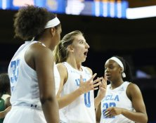 Chantel Horvat reacts after being called for a foul.