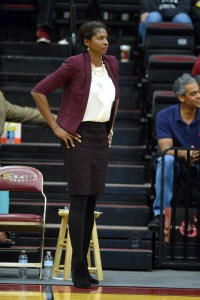 """Charlotte Smith felt """"at peace"""" after interviewing for the Elon head coach job. Photo courtesy of Elon Athletics."""