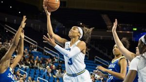 Jordin Canada notched the seventh triple-double in UCLA history with 26 points, 11 steals and 10 assists. Photo courtesy of UCLA Athletics.