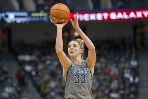 Katie Lou Samuelson scored a team-high 18 points in her return from injury. Photo by Stephen Slade.