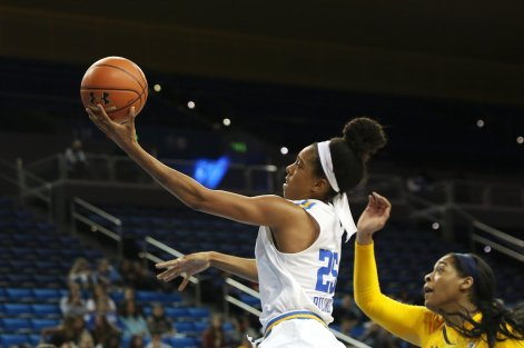 Monique Billings drives to the basket. Photo by Maria Noble/WomensHoopsWorld.