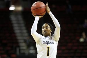 Asha Thomas takes aim and fires for Cal. Photo courtesy of Cal Athletics.