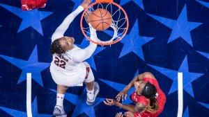 Tanaya Atkinson. Photo by Ben Solomon/American Athletic Conference.