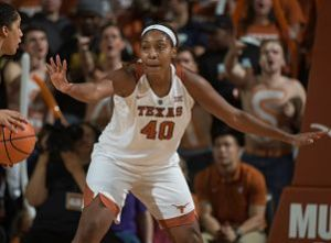 Jatarie White has found Texas a great fit. Photo courtesy of Texas Athletics.