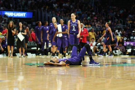 DeWanna Bonner is fouled. Maria Noble/WomensHoopsWorld.