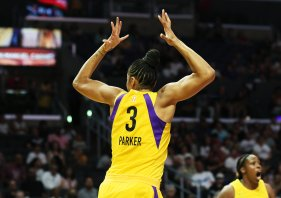 A foul is called on Candace Parker. Maria Noble/WomensHoopsWorld.